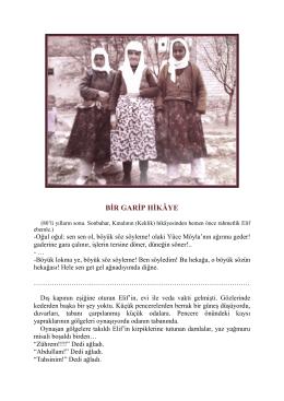 BİR GARİP HİKÂYE