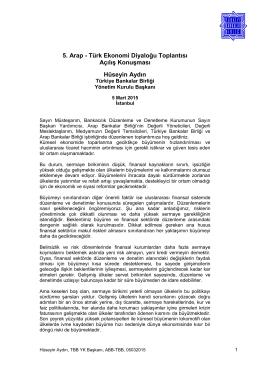 5. Arap - Türk Ekonomi Diyaloğu