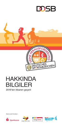 HAKKINDA BILGILER - Deutsches Sportabzeichen