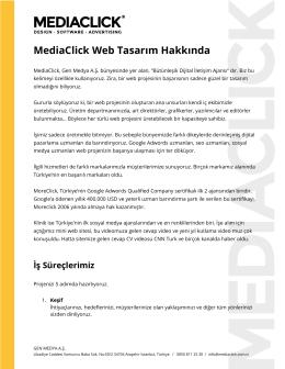 MediaClick Web Tasarım Hakkında