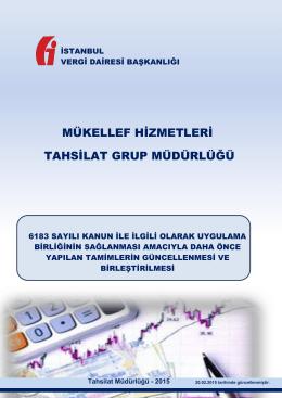 tahsilat tamimleri - İstanbul Vergi Dairesi Başkanlığı