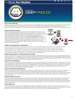 Deep Freeze Hakkında İsteğe Göre - E