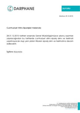 DUYURU Cumhuriyet Altını Siparişleri Hakkında 28