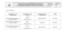 Mayıs - Develi Hatice Muammer Kocatürk Devlet Hastanesi