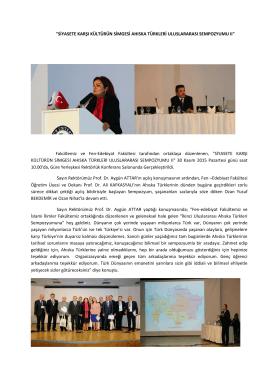 Siyasete Karşı Kültürün Simgesi Ahıska Türkleri Uluslararası