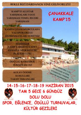 çanakkale yaz kampı - avrasya spor kulübü