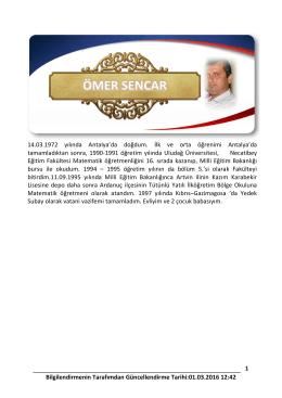 14.03.1972 tarihinde Antalya`da doğdum.