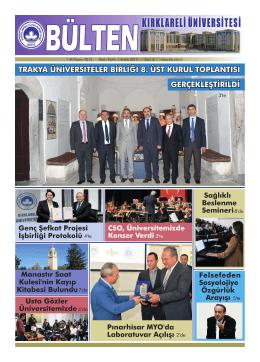 trakya üniversiteler birliği 8. üst kurul toplantısı gerçekleştirildi