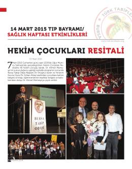14 mart 2015 tıp bayramı etkinlikleri