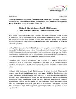 DoEIA_XI. Ulusal Altın Ödül Basın Bülteni Ekim 2015