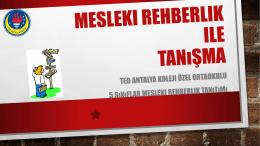 MESLEKI REHBERLIK KAVRAMLARı