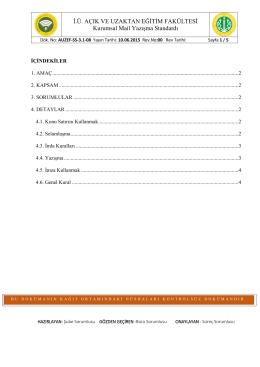 AUZEF-SS-3.1-08Kurumsal Mail Yazışma Standartı