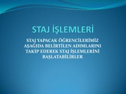Staj Klavuzu - Yıldız Teknik Üniversitesi Harita Mühendisliği Bölümü