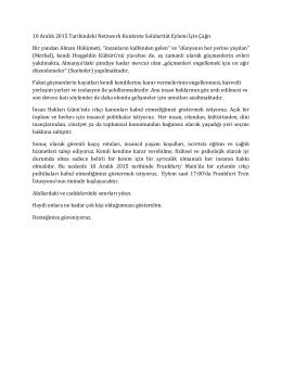 10 Aralık 2015 Tarihindeki Netzwerk Konkrete