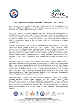 İzmir Üniversiteleri Platformu`ndan İzmir Enternasyonal Fuarı`na