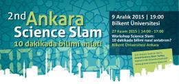 9 Aralık 2015 | 19:00 Bilkent Üniversitesi