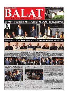 Dursunbey`de - balat gazetesi resmi sitesi