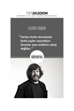 levenet erden - trt akademi dergisi