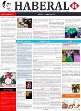 Aralik Gazete - Ayşeabla Okulları