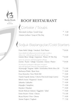 Roof Yemek Menüsü 2015 kasım.indd