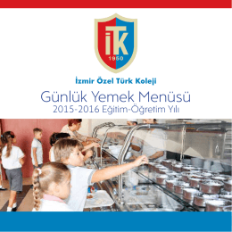Günlük Yemek Menüsü - İzmir Özel Türk Koleji