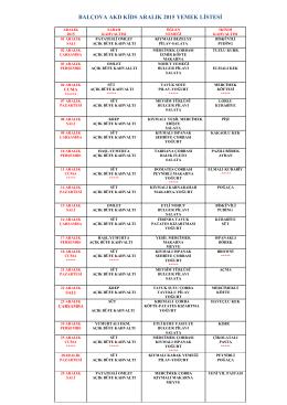 balçova akd kids aralık 2015 yemek listesi