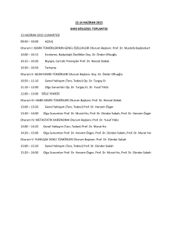 13-14 HAZİRAN 2015 KARS BÖLGESEL TOPLANTISI 13 HAZİRAN