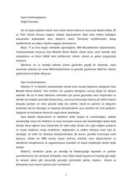 Atatürk Kültür, Dil ve Tarih Yüksek Kurumu başkanı Derya