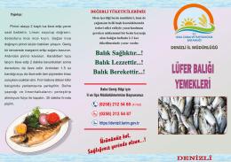 Lüfer Balığı Yemekleri