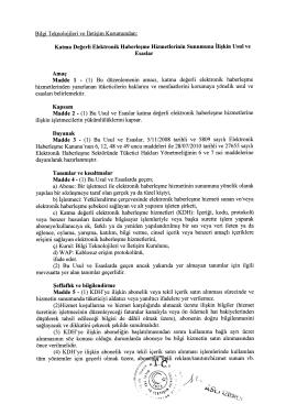 KDH Usul ve Esaslar Taslağı - Bilgi Teknolojileri ve İletişim Kurumu
