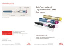 KwikPen – kullanışlı Lilly`den kullanıma hazır dolu kalem Kullanma