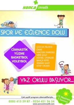 yaz okulu - YONCA CİMNASTİK