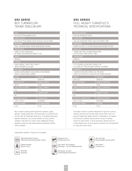 PDF İndir - Erişim Teknik Turnike Sistemleri