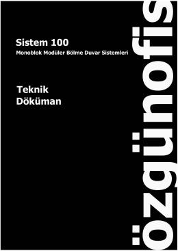 Teknik Döküman Sistem 100
