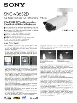 Ağ Bağlantılı Sabit Full HD Kamera – V Serisi