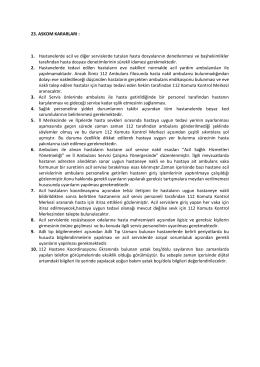23. askom kararları - şanlıurfa il ambulans servisi başhekimliği 112