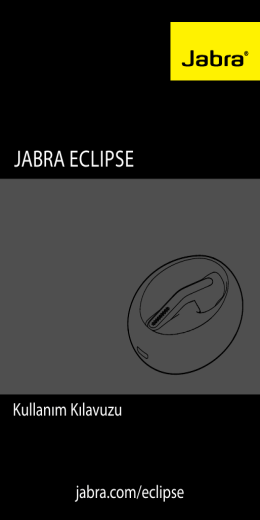Jabra Eclipse manual_TR RevB.indd