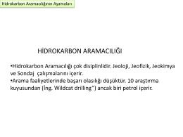 Petrol-Hidrokarbon Aramacılığında Yöntemler