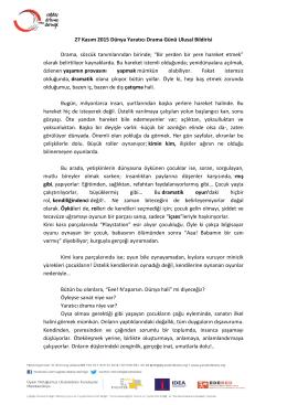 Ulusal Bildiri-1 - Çağdaş Drama Derneği İstanbul Şubesi | İstanbul