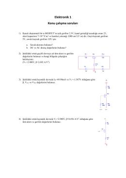 Elektronik 1 Konu çalışma soruları