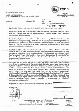 Tarih Sayı Konu 0411/ Hannover Sanayi Fuarı İlgi: İstanbul Ticaret