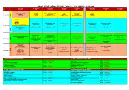 2015-2016 güz yy fınal sınav programı