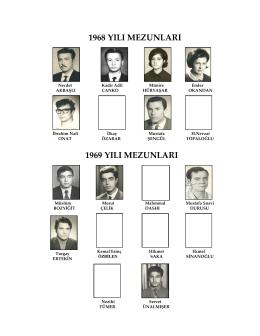 1968 yılı mezunları 1969 yılı mezunları