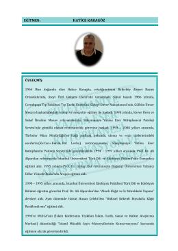 HATİCE KARAGÖZ - Süleymaniye Yazma Eser Kütüphanesi