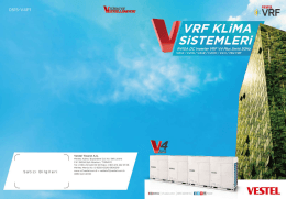 Vestel V4+K Kataloğu - Vestel VRF Klima Sistemleri