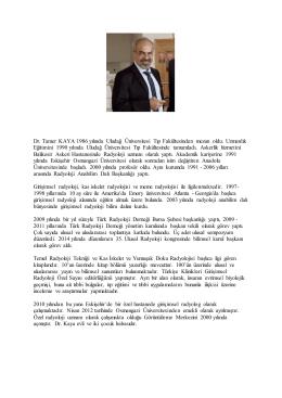 Dr Tamer KAYA - Türk Radyoloji Derneği