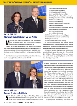 SAYFA 26 - 27 GUVERNÖRLERİMİZİ TANIYALIM