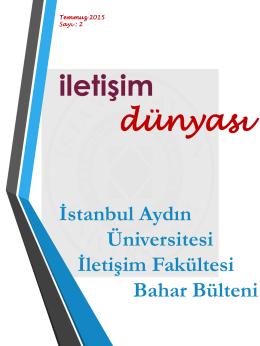 Sayı 2 Temmuz 2015 - İletişim Fakültesi