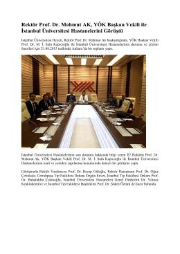 YÖK Toplantı Notları