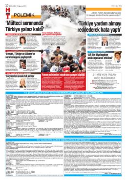 `Mülteci sorununda Türkiye yalnız kaldı` `Türkiye yardım almayı
